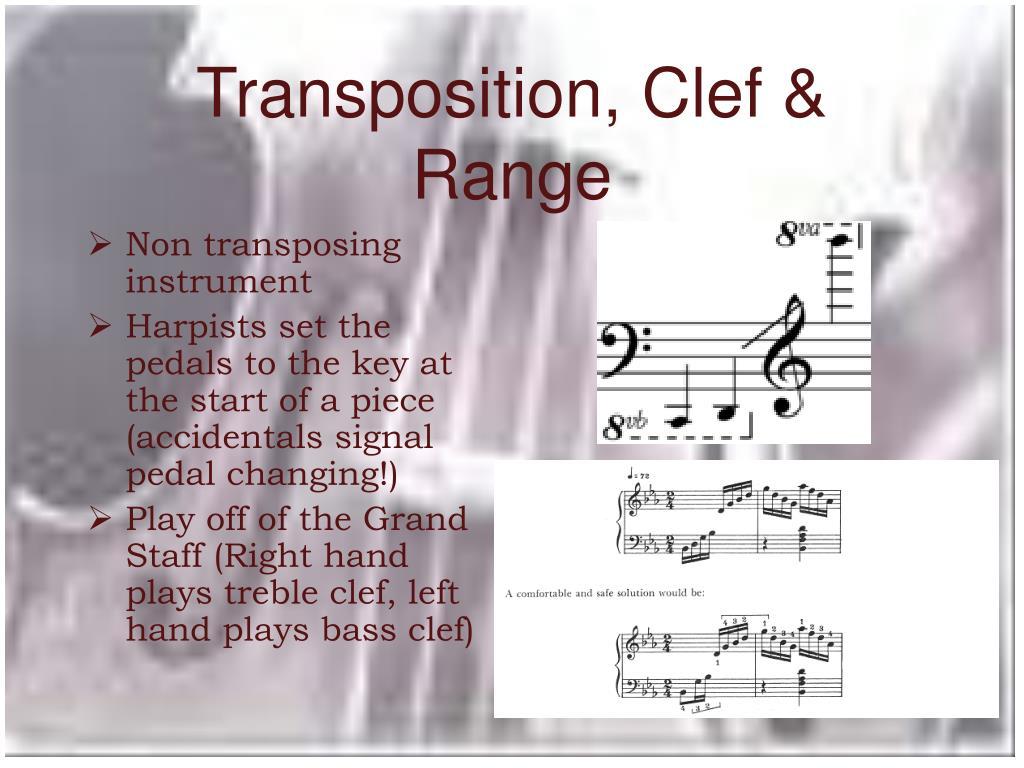 Transposition, Clef & Range