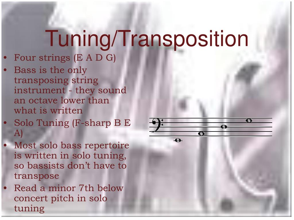 Tuning/Transposition
