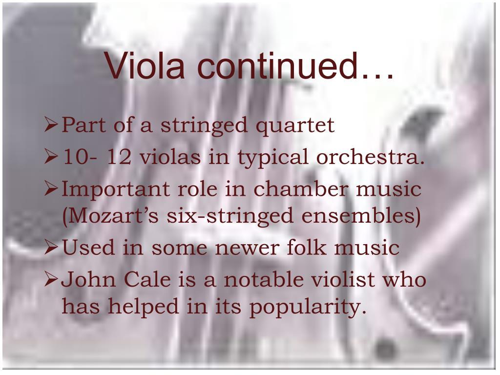 Viola continued…