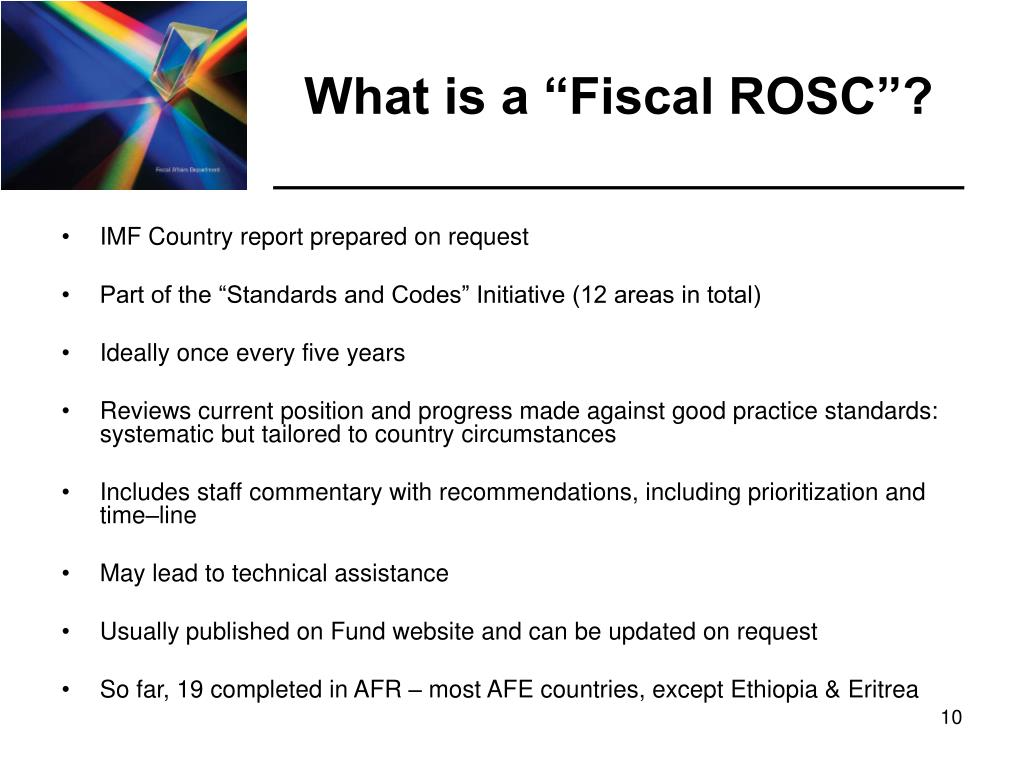 "What is a ""Fiscal ROSC""?"