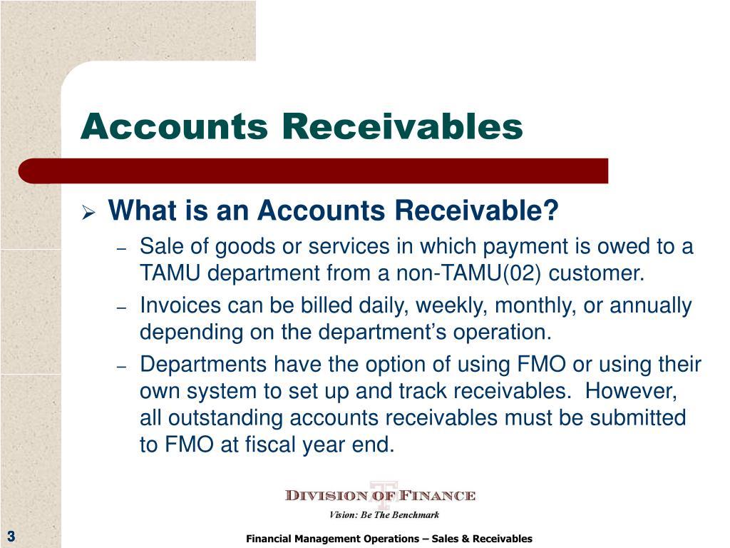 Accounts Receivables