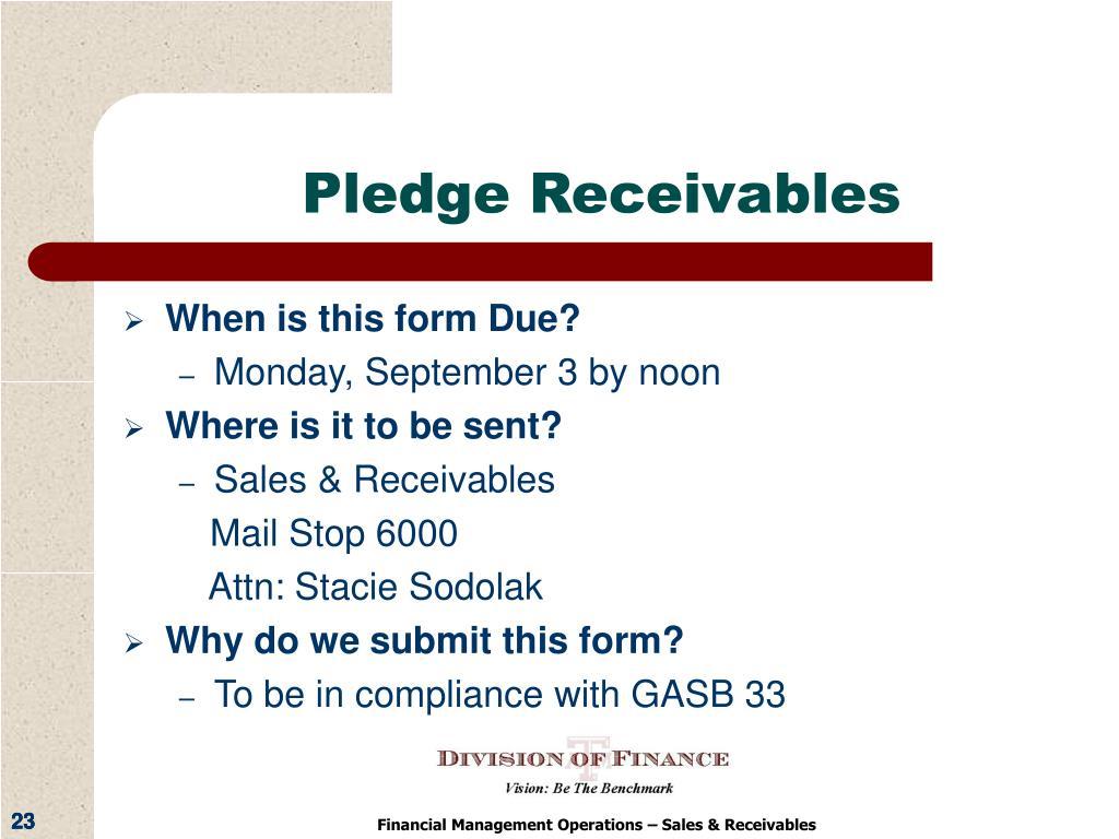 Pledge Receivables
