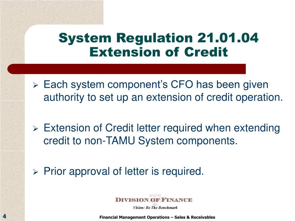 System Regulation 21.01.04