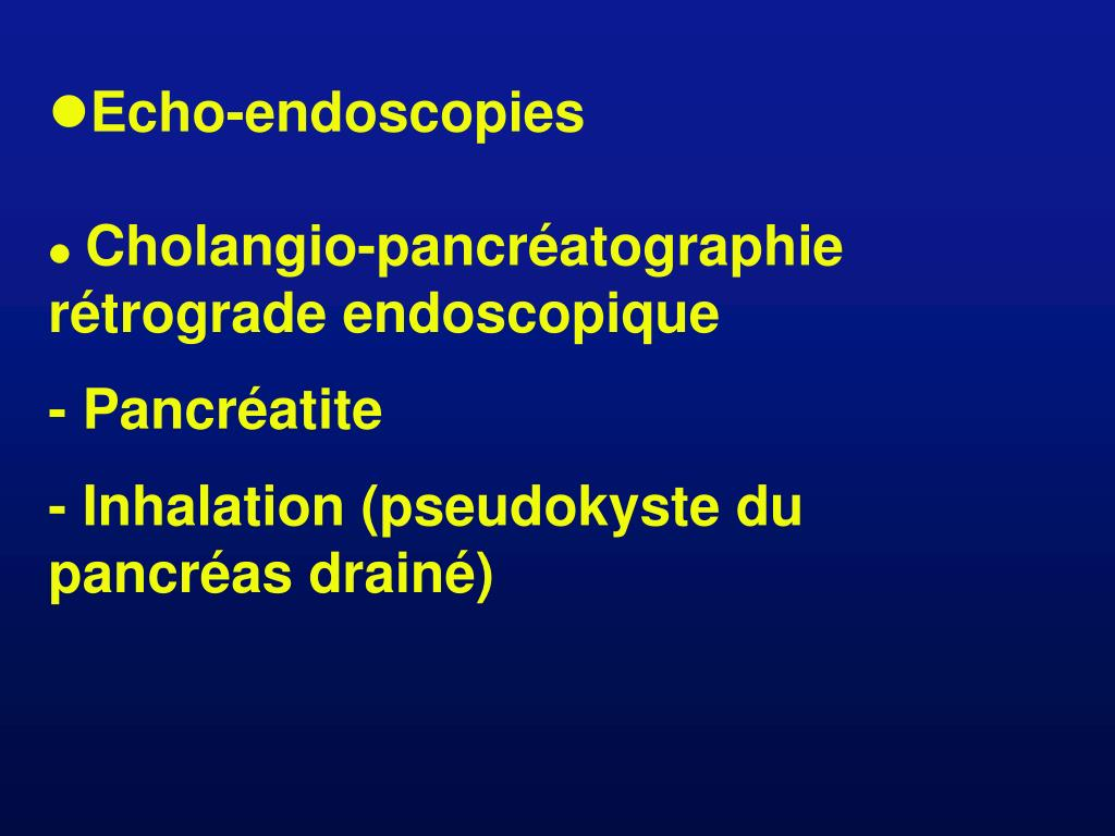 Echo-endoscopies