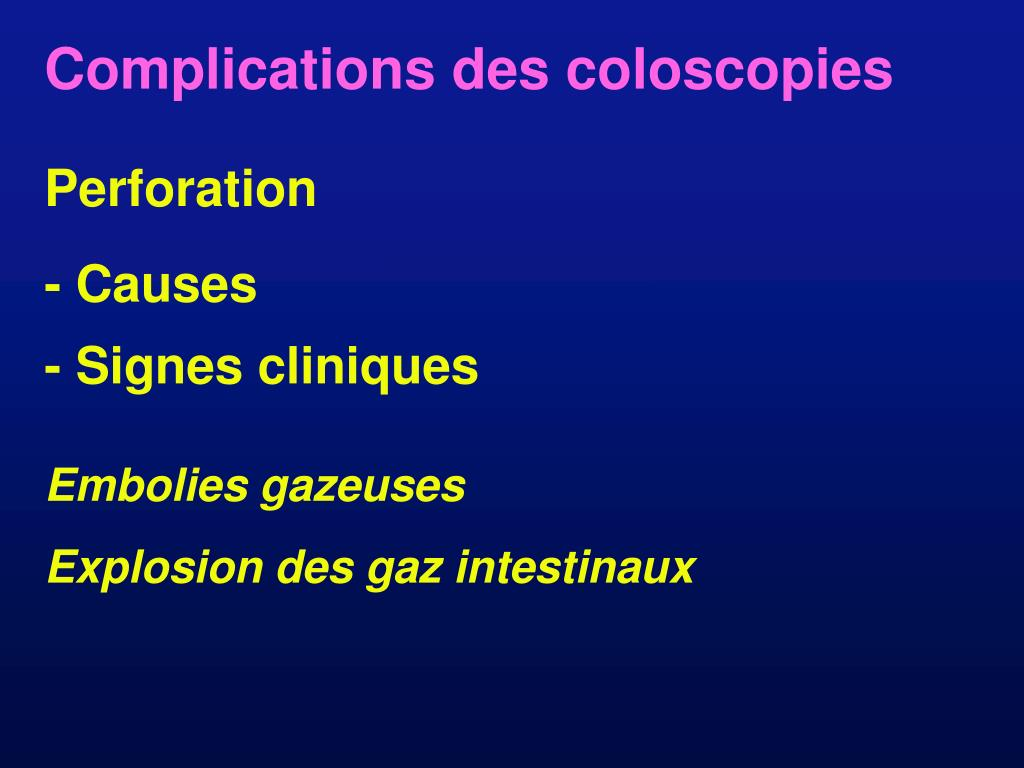 Complications des coloscopies