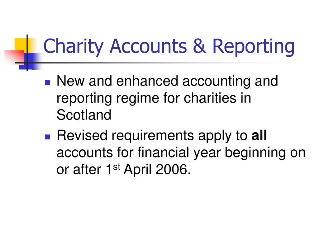 Charity Accounts & Reporting