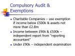 compulsory audit exemptions10