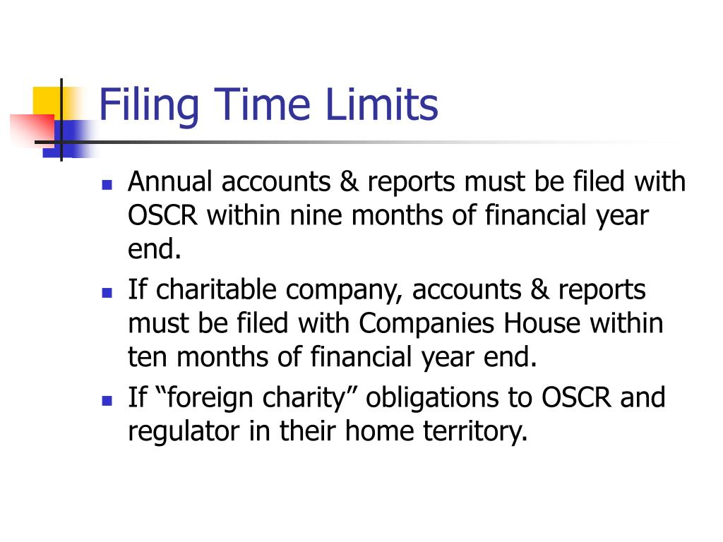 Filing Time Limits