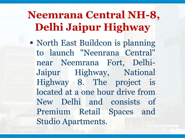 Neemrana central nh 8 delhi jaipur highway