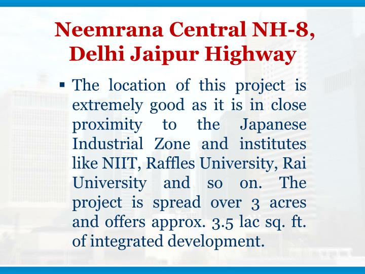 Neemrana central nh 8 delhi jaipur highway3