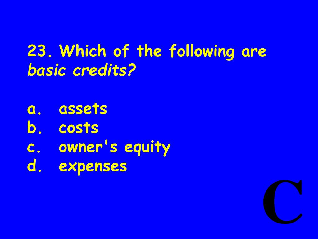 23.Which of the following are