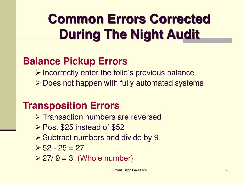 Common Errors Corrected