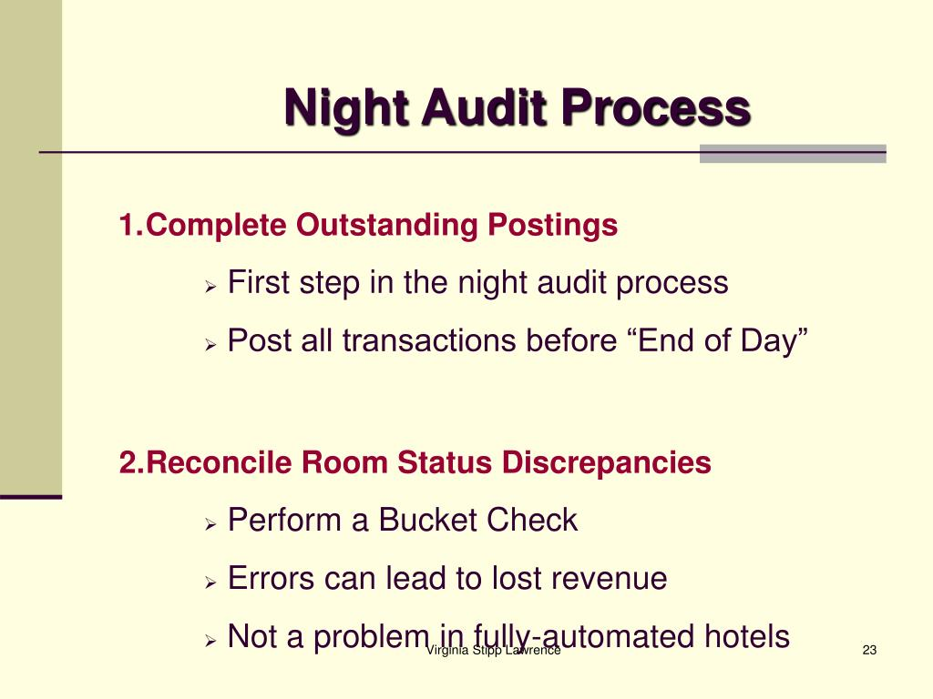 Night Audit Process