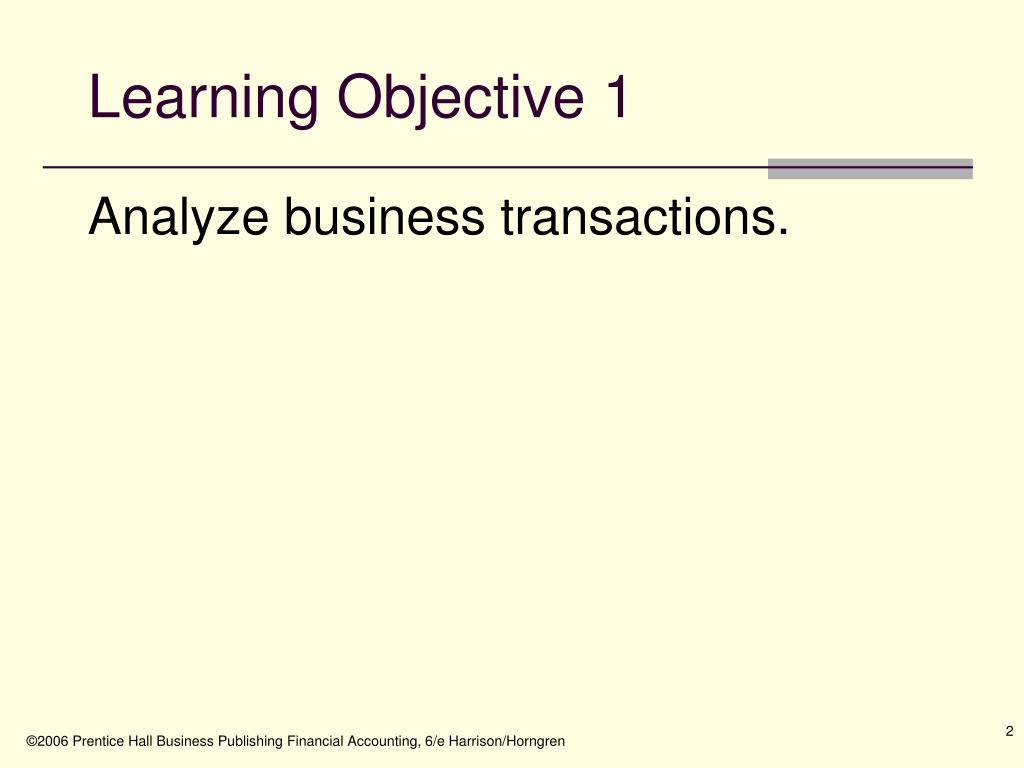 Learning Objective 1
