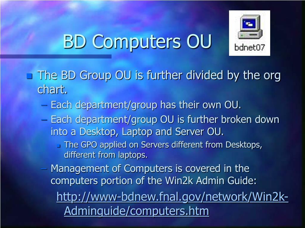 BD Computers OU
