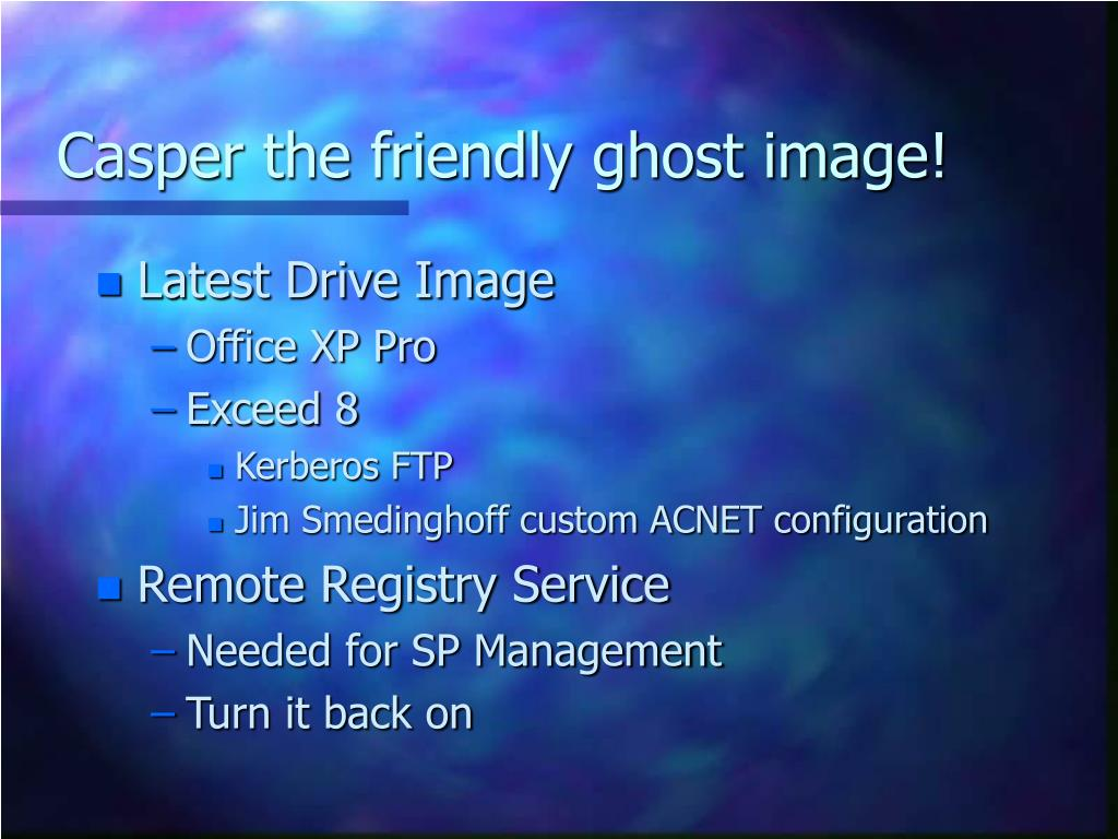 Casper the friendly ghost image!