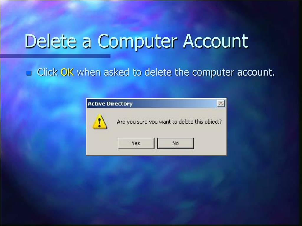 Delete a Computer Account