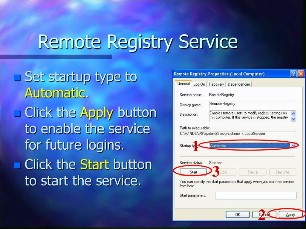 Remote Registry Service