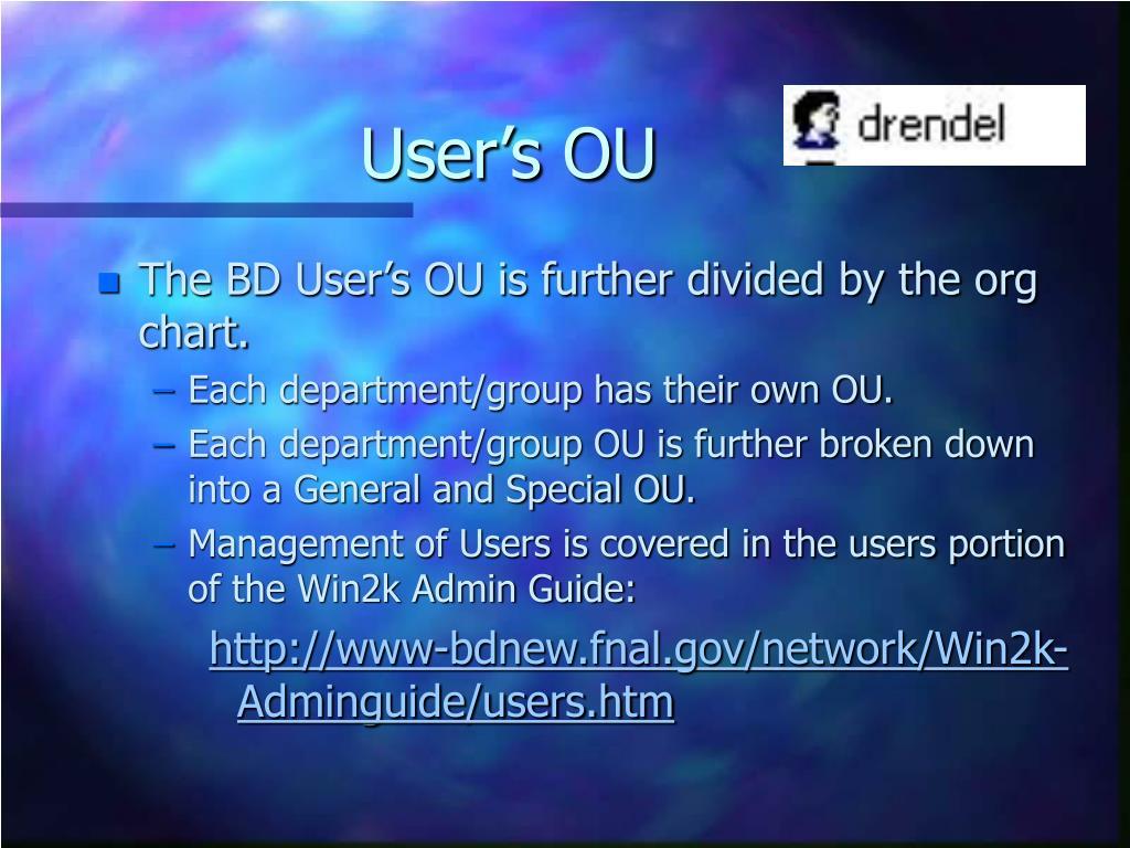 User's OU
