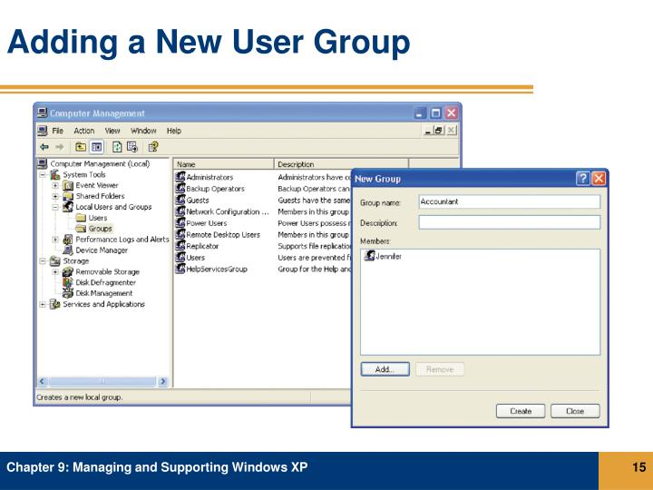Adding a New User Group