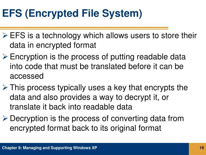 EFS (Encrypted File System)