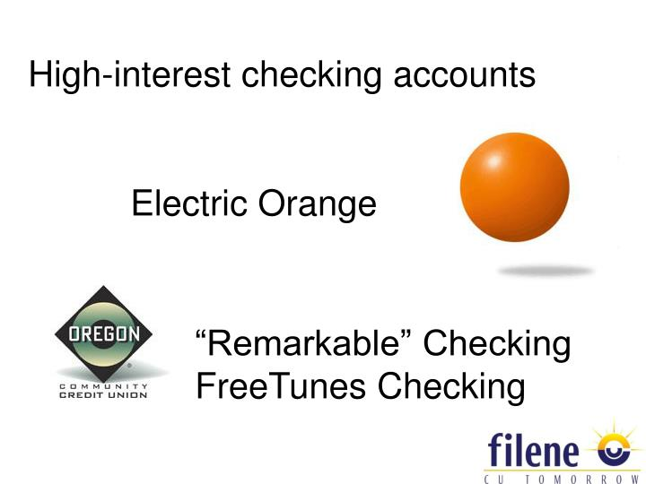 High-interest checking accounts