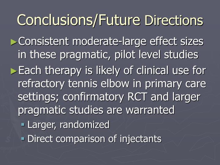 Conclusions/Future