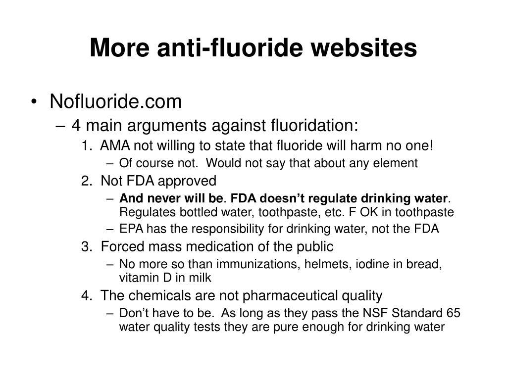 More anti-fluoride websites