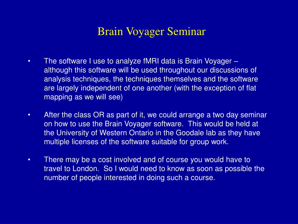 Brain Voyager Seminar