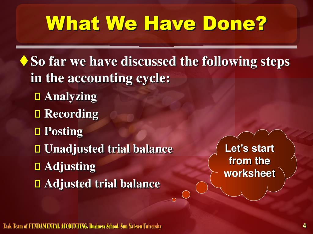 What We Have Done?