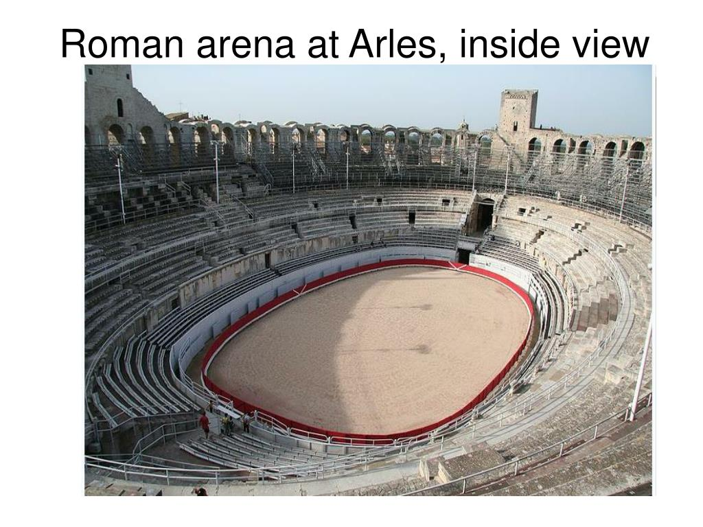 Roman arena at Arles, inside view