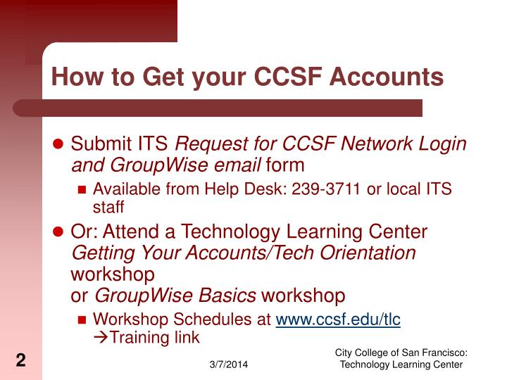How to get your ccsf accounts