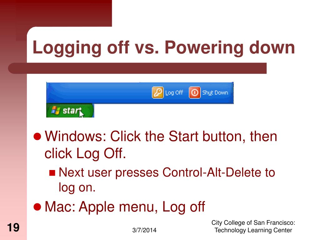 Logging off vs. Powering down