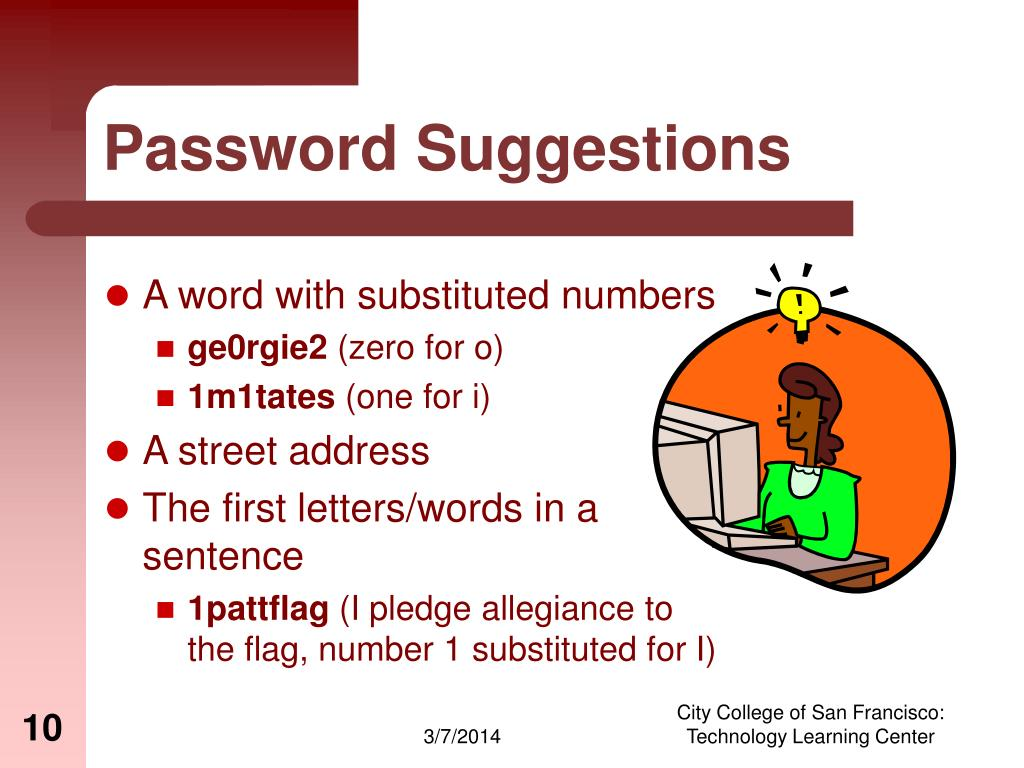 Password Suggestions
