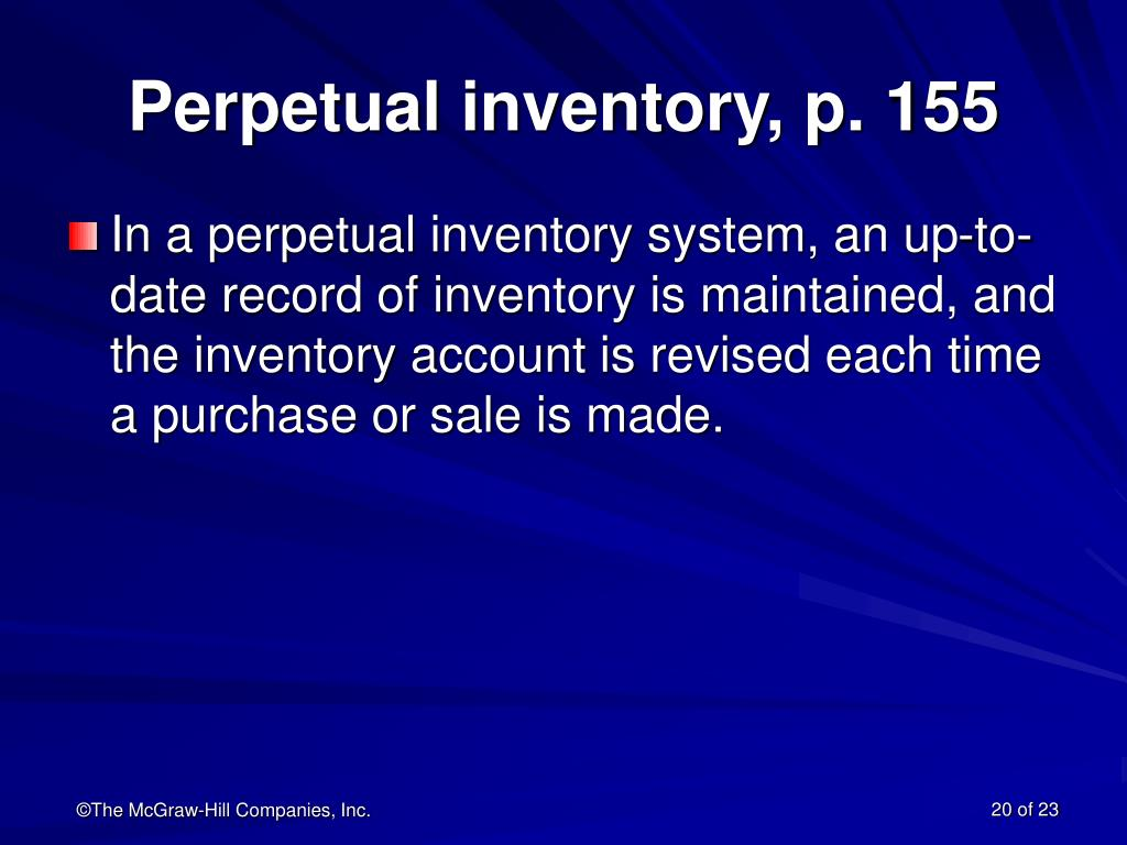 Perpetual inventory, p. 155