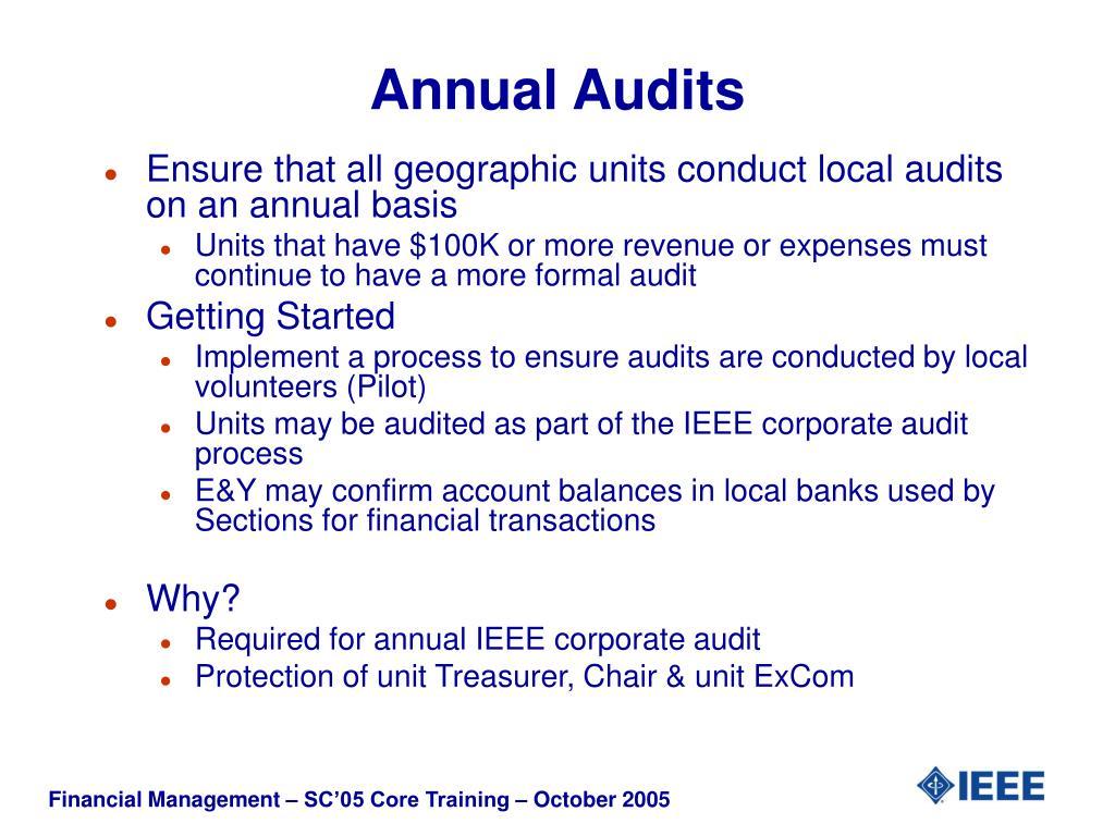 Annual Audits