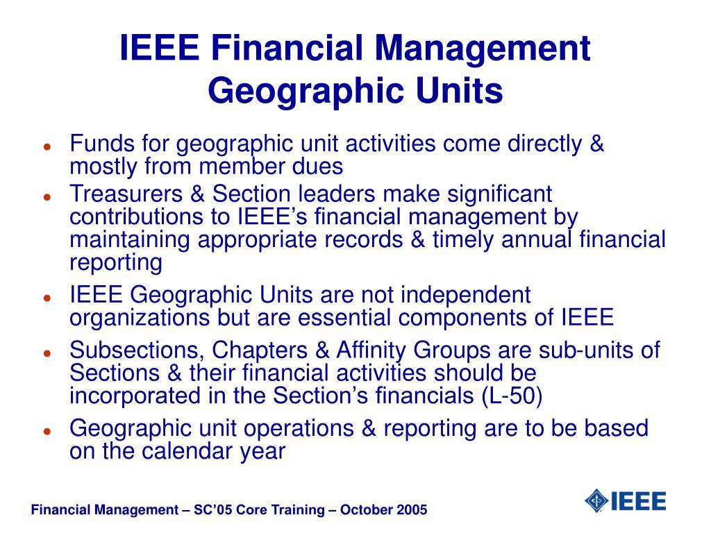 IEEE Financial Management