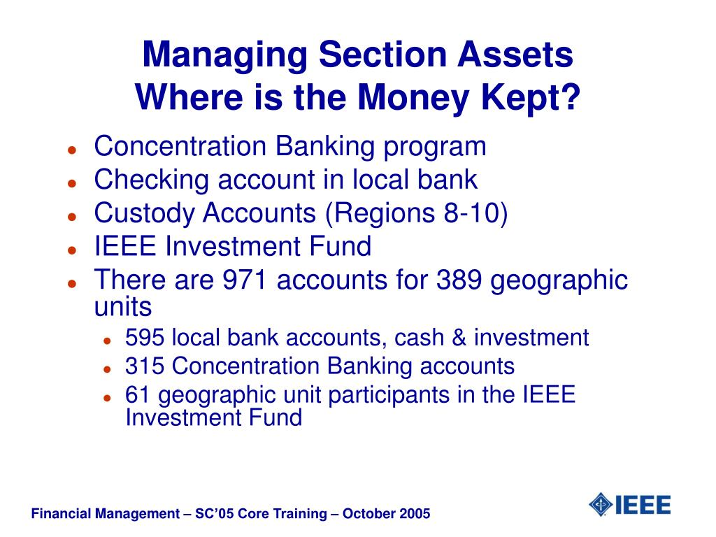 Managing Section Assets