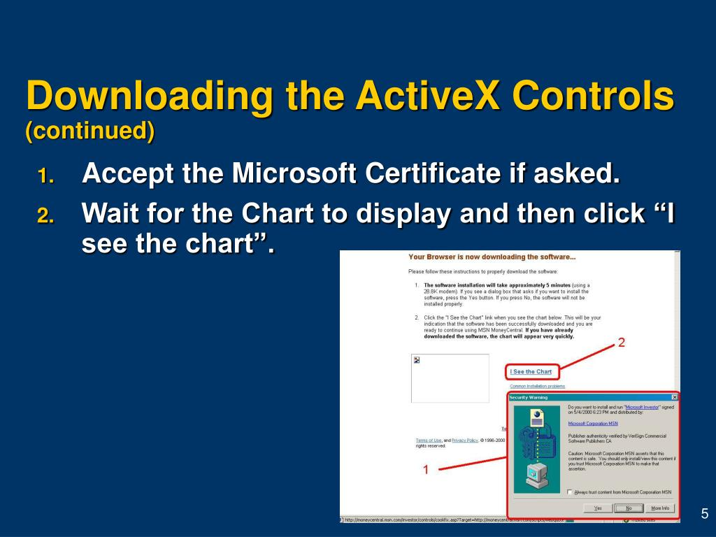 Downloading the ActiveX Controls