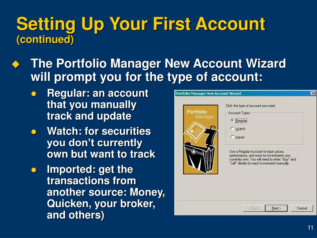 Setting Up Your First Account
