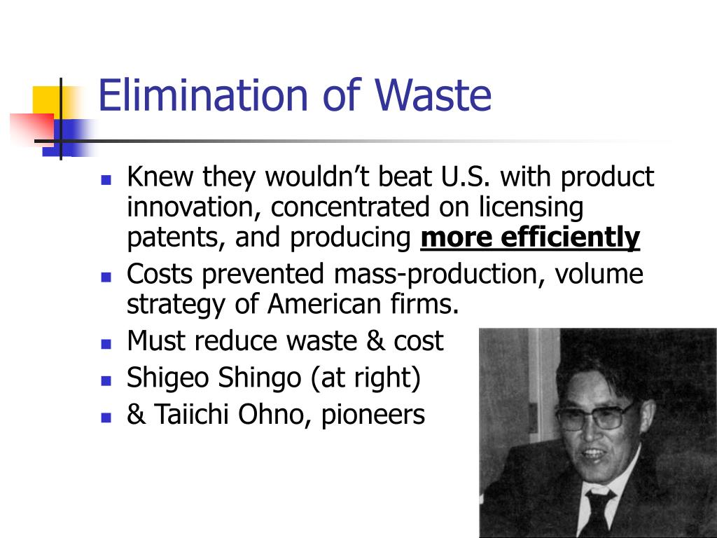 Elimination of Waste