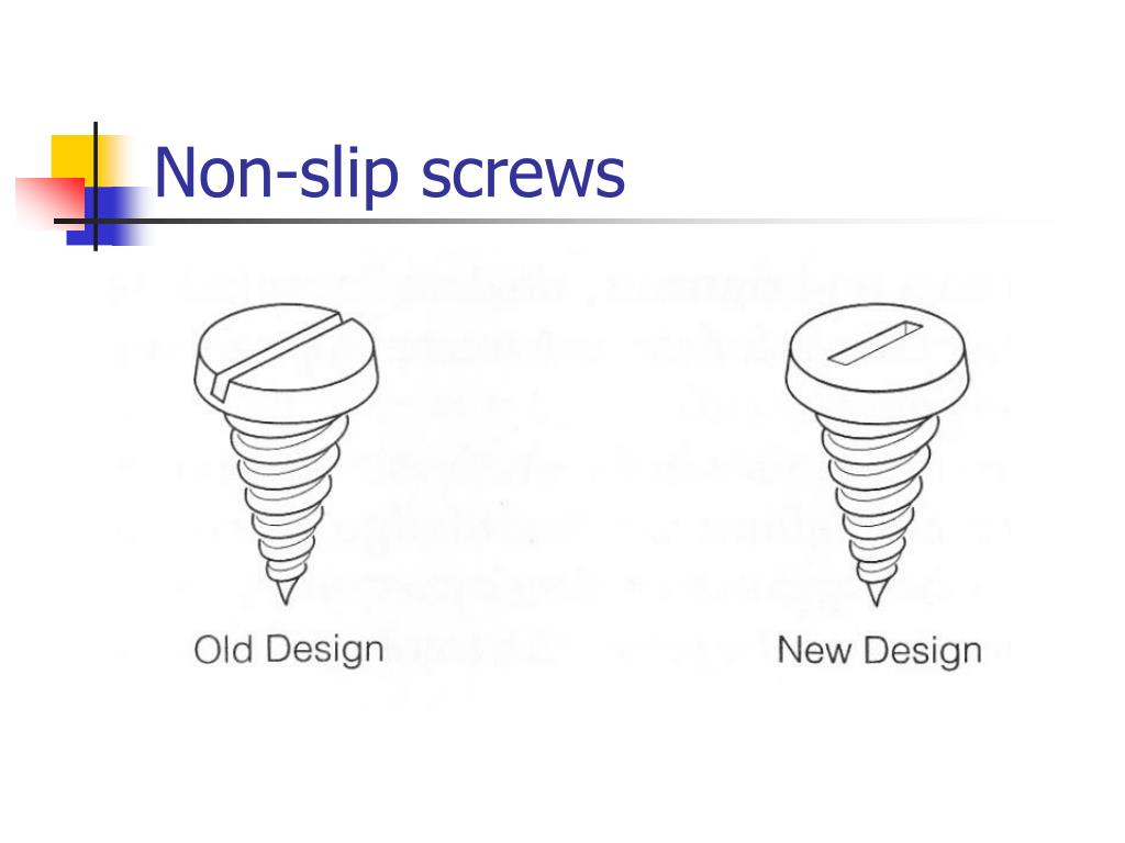 Non-slip screws