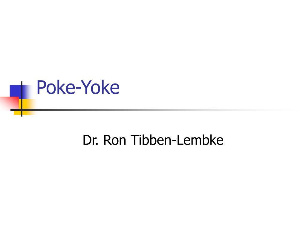 Poke-Yoke