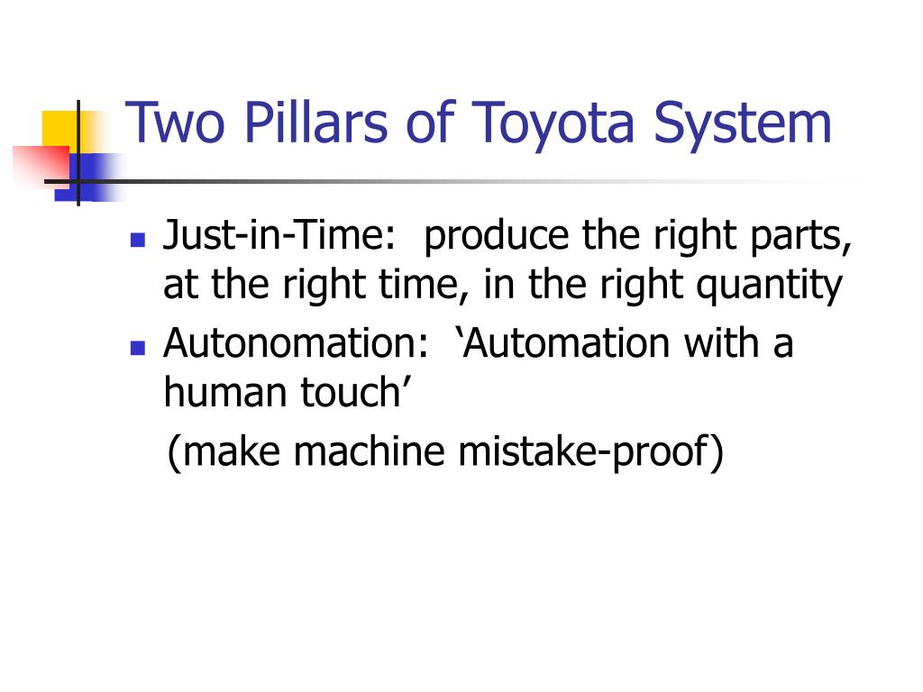 Two Pillars of Toyota System