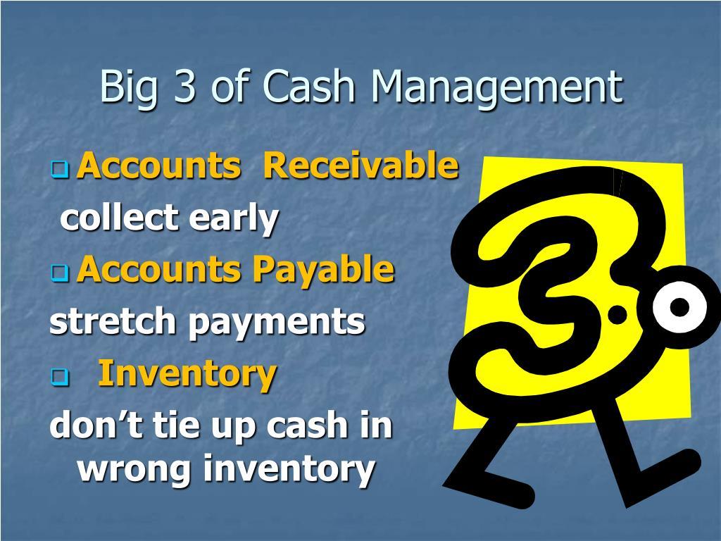 Big 3 of Cash Management