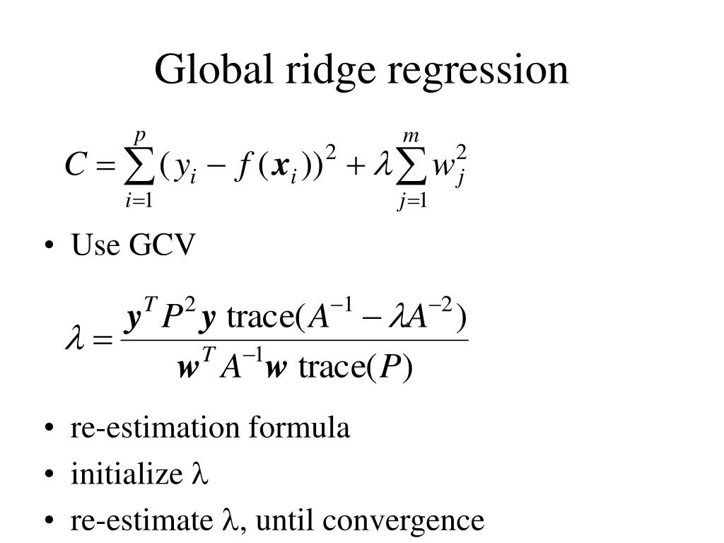 Global ridge regression