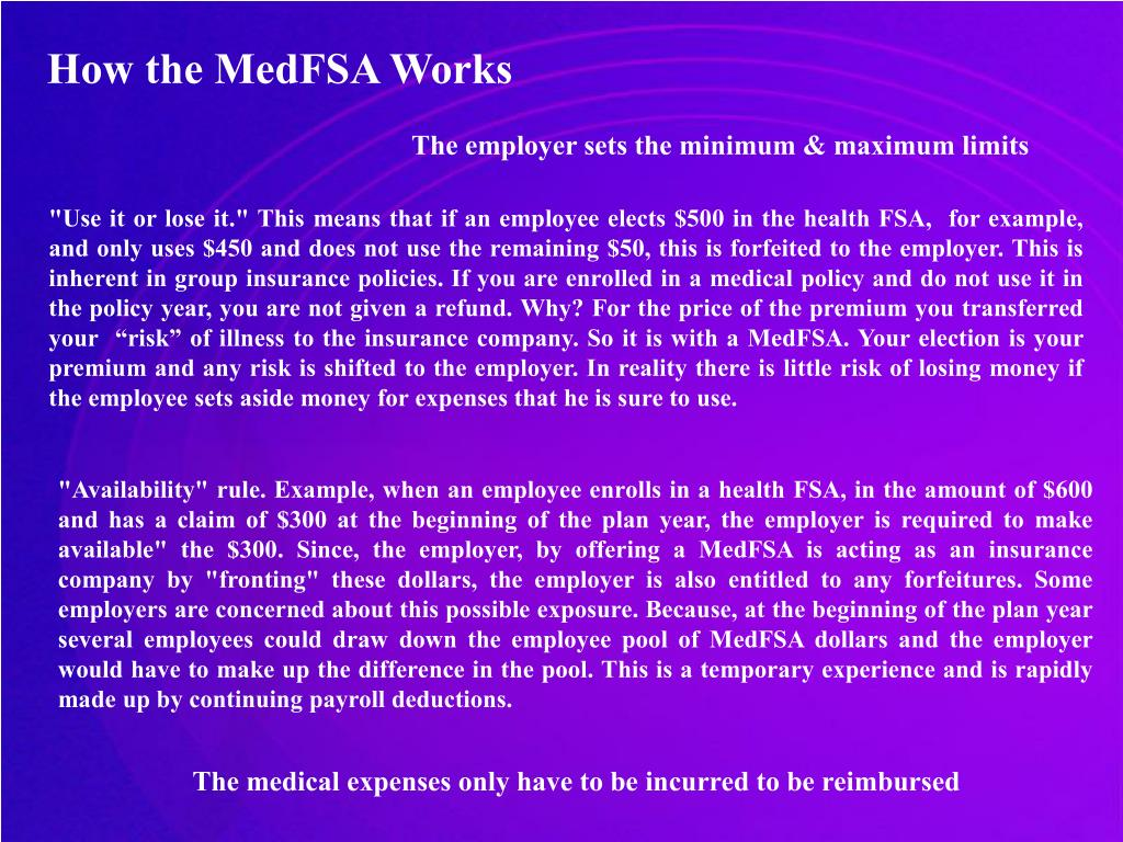 How the MedFSA Works