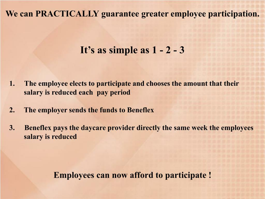 We can PRACTICALLY guarantee greater employee participation.