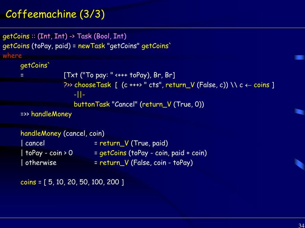 Coffeemachine (3/3)