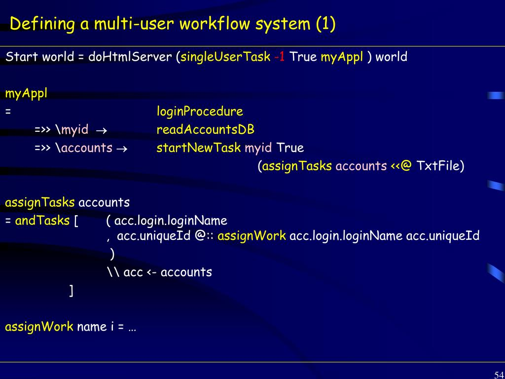 Defining a multi-user workflow system (1)